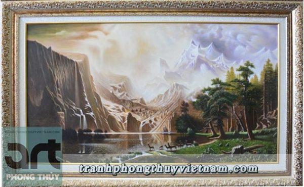 tranh sơn dầu tả thực