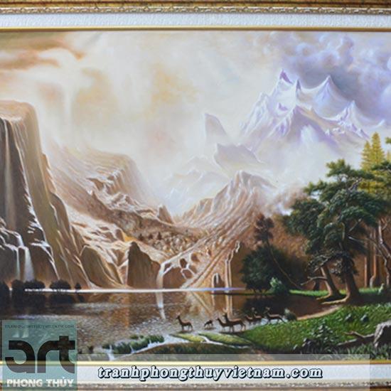 tranh sơn dầu tả thực đẹp