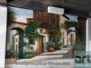 vẽ tranh tường phòng khách tuyệt đẹp giá rẻ