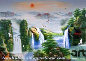 tranh sơn thủy treo tường