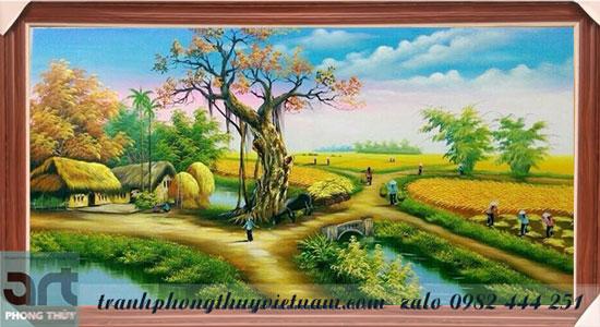 tranh đồng quê màu sơn dầu