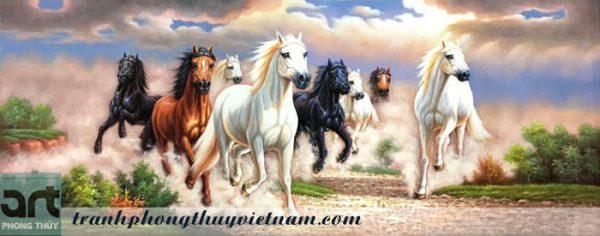 tranh ngựa bát mã truy phong
