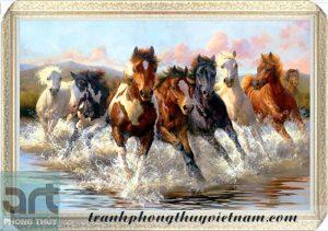 tranh ngựa phong thủy