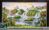 tranh sơn thủy núi mây trùng điệp