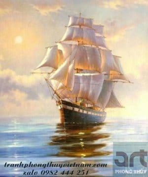 bức tranh phong thủy thuận buồm xuôi gió