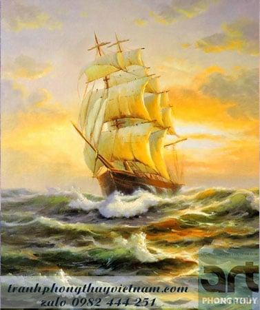 bức tranh thuận buồm xuôi gió