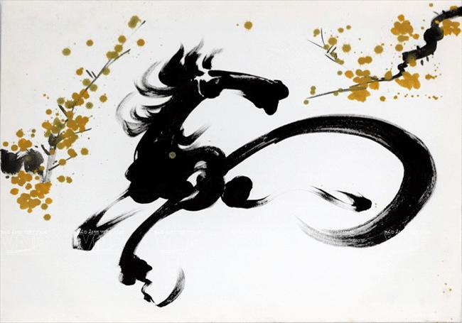tranh ngựa biểu tượng của sự thành công tài lộc