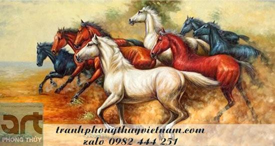 tranh ngựa biểu tượng thành công