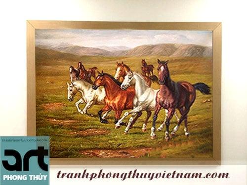 tranh ngựa mã đáo thành công tuyệt đẹp