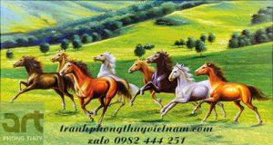 tranh ngựa treo tường