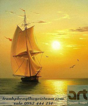 tranh phong cảnh thuận buồm xuôi gió