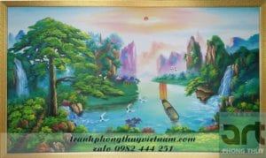 tranh sơn thủy hữu tình đẹp