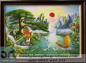 tranh sơn thủy treo tường đẹp