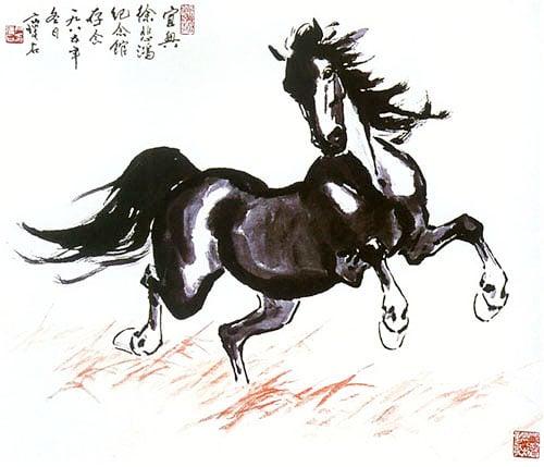 Ý nghĩa lộc mã trong tranh ngựa phong thủy