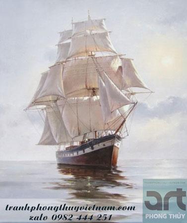 bức tranh phong thủy thuận buồm xuôi gió treo tường