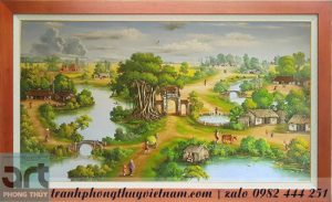 bức tranh treo tường vẽ cảnh đồng quê