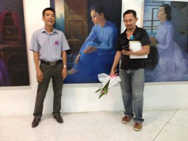 thiếu nữ và lồng chim no2 - họa sĩ Nguyễn Hải Thanh