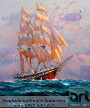 thuận buồm xuôi gió tranh phong thủy