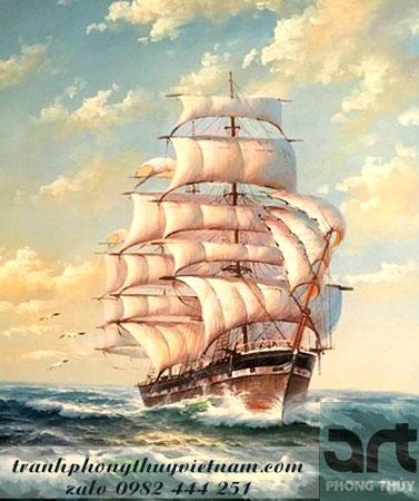 thuận buồm xuôi gió tranh trang trí