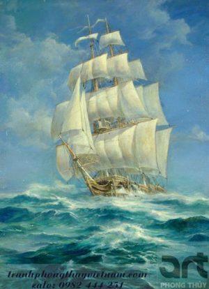 thuận buồm xuôi gió treo tường trang trí