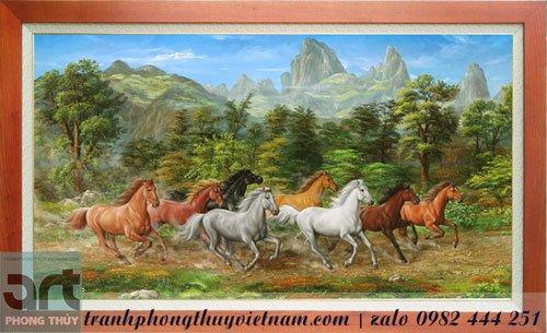 tranh ngựa màu sơn dầu đẹp nhất