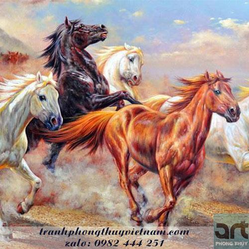tranh ngựa phong thủy quà tặng doanh nhân
