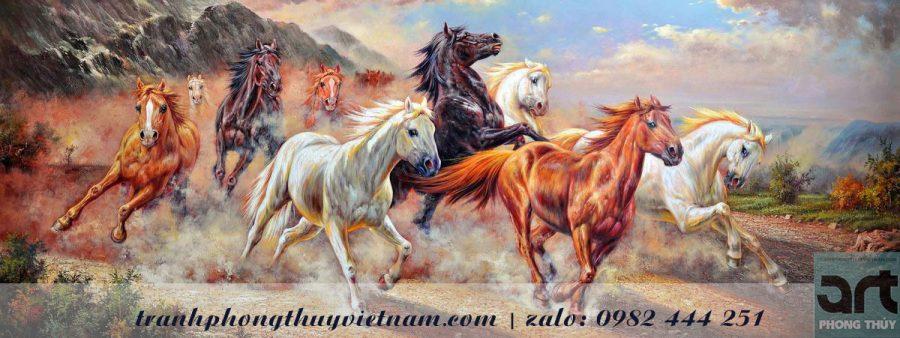 tranh ngựa quà tặng doanh nhân