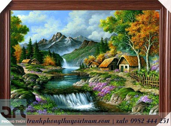 tranh phong cảnh châu âu treo tường đẹp
