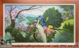 tranh phong thủy chim công giá rẻ tại hà nội