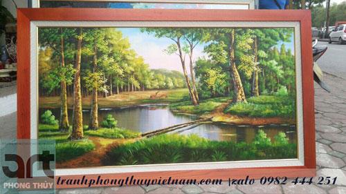 tranh sơn dầu phong cảnh treo tường khổ lớn