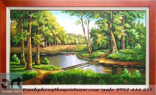 tranh sơn dầu phong cảnh treo tường
