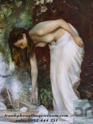 tranh sơn dầu thiếu nữ khỏa thân