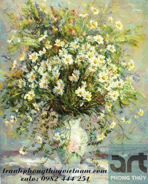 tranh sơn dầu tĩnh vật hoa tuyệt đẹp