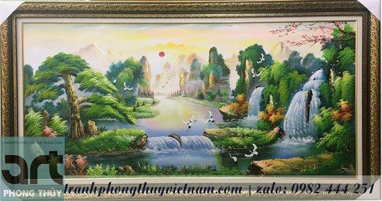 tranh sơn thủy hùng vỹ
