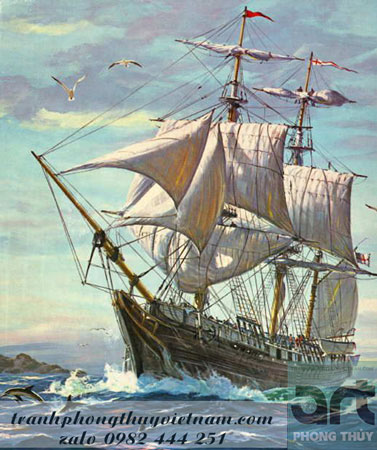 tranh thuận buồm xuôi gió tuyệt đẹp