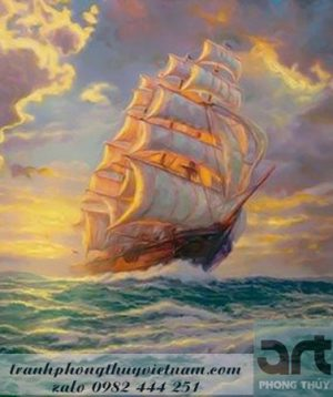 tranh vẽ thuận buồm xuôi gió