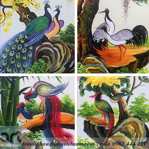 các loài chim quý trong tranh tứ quý