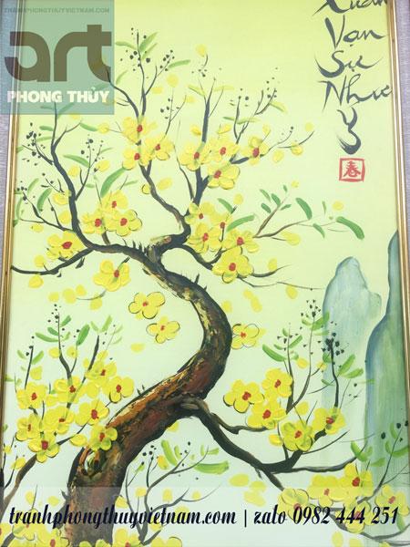 cây mai đào trong tranh tứ quý