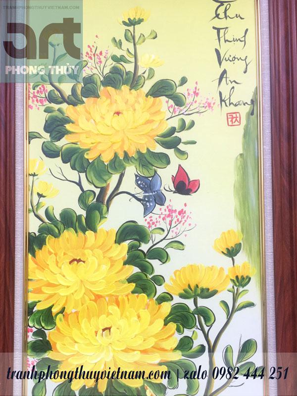 hoa cúc trong tranh tứ quý