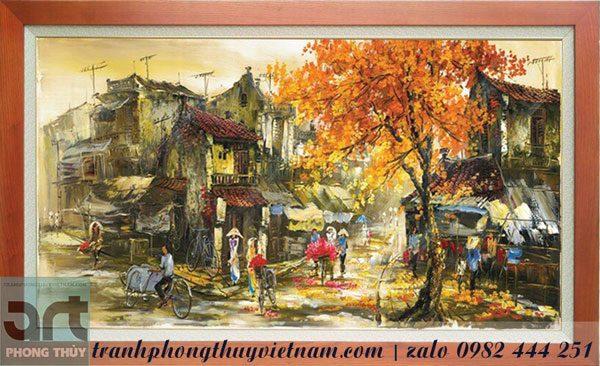 tranh phong cảnh phố cổ