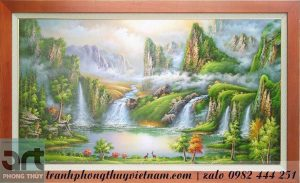 tranh sơn thủy hữu tình phong cảnh đẹp