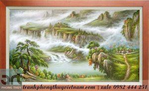 tranh sơn thủy hữu tình tranh phong cảnh