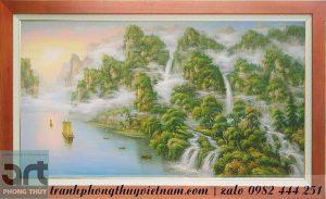 Tranh sơn thủy phong cảnh thiên nhiên núi non