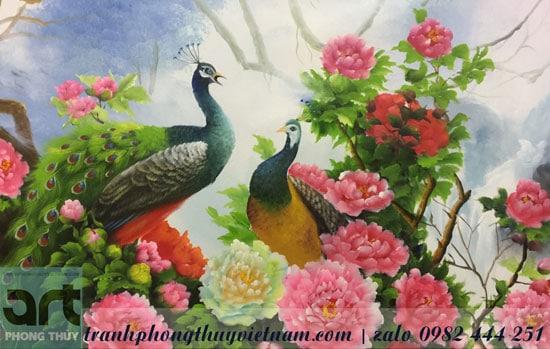 cặp đôi chim công