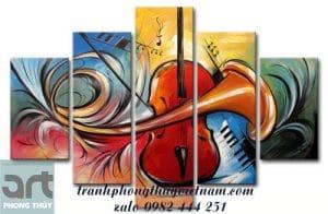 tranh nghệ thuật chủ đề âm nhạc
