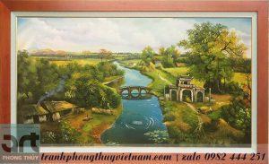 phong cảnh dòng sông quê hương