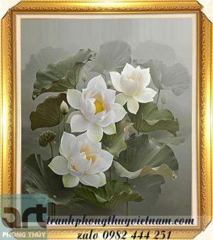 vẽ tranh hoa sen đẹp