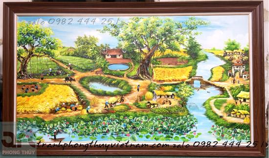 phong cảnh đồng quê làng quê yên bình