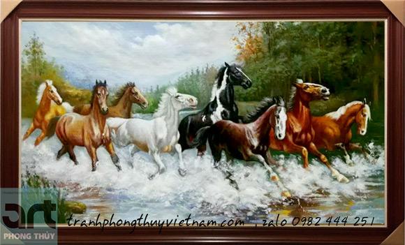 tranh ngựa phi trên mặt nước