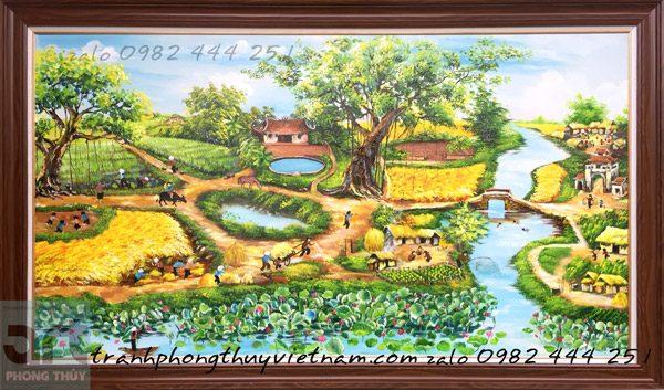vẽ tranh đồng quê theo yêu cầu khách hàng